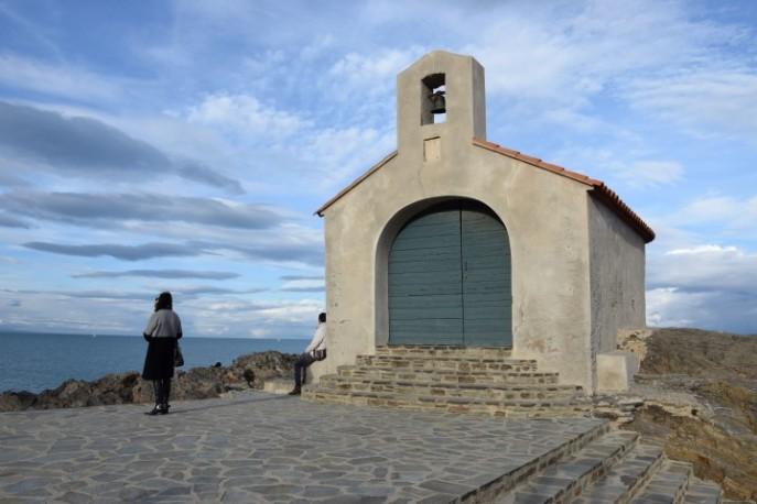 Drukte bij het kapelletje in Collioure :)